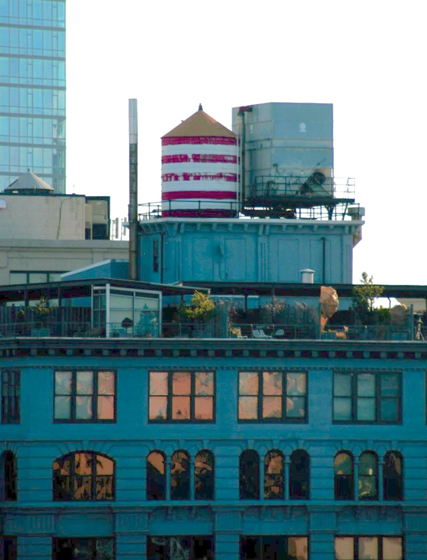 I'll never not have a thing for rooftops and water towers.