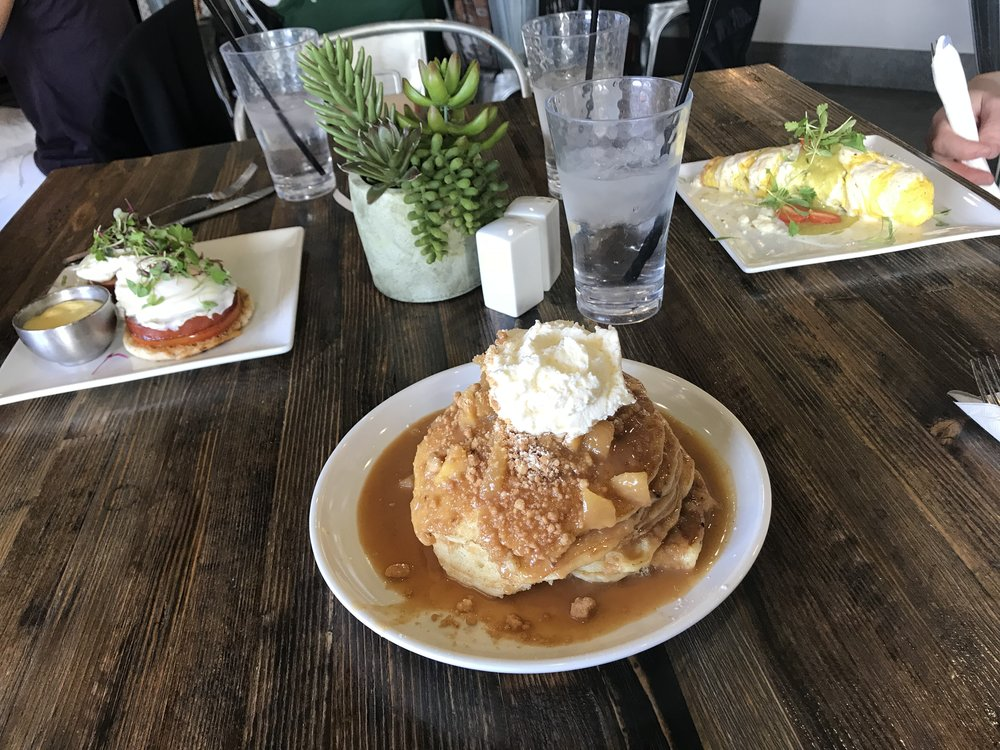 Craft Benedict, Apple Cobbler Pancakes and The Carnitas Omelet