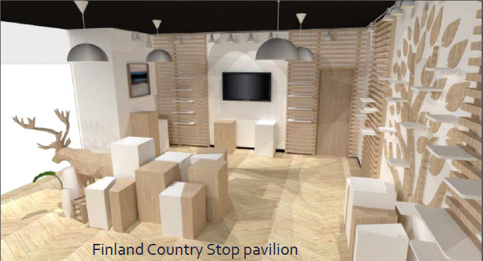 Finnish country pavilion in Hangzhou
