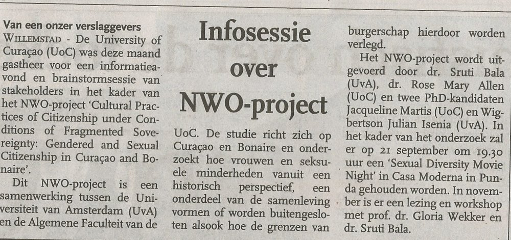 Article in Algemeen Dagblad - September 13, 2017