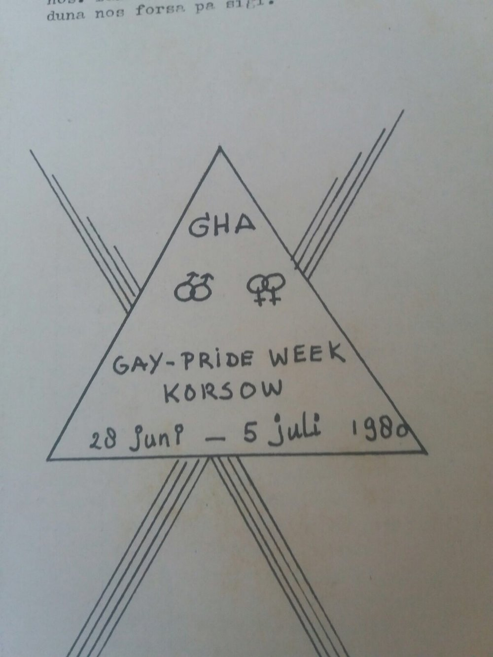 Gay Pride week Curaçao 1980. A radio interview and public theatre play were cancelled and censored respectively, due to homophobia by the Governor of Curaçao. The party, however, still took place.  (Photo from the archive of Grupo Homofilia Antiyano)