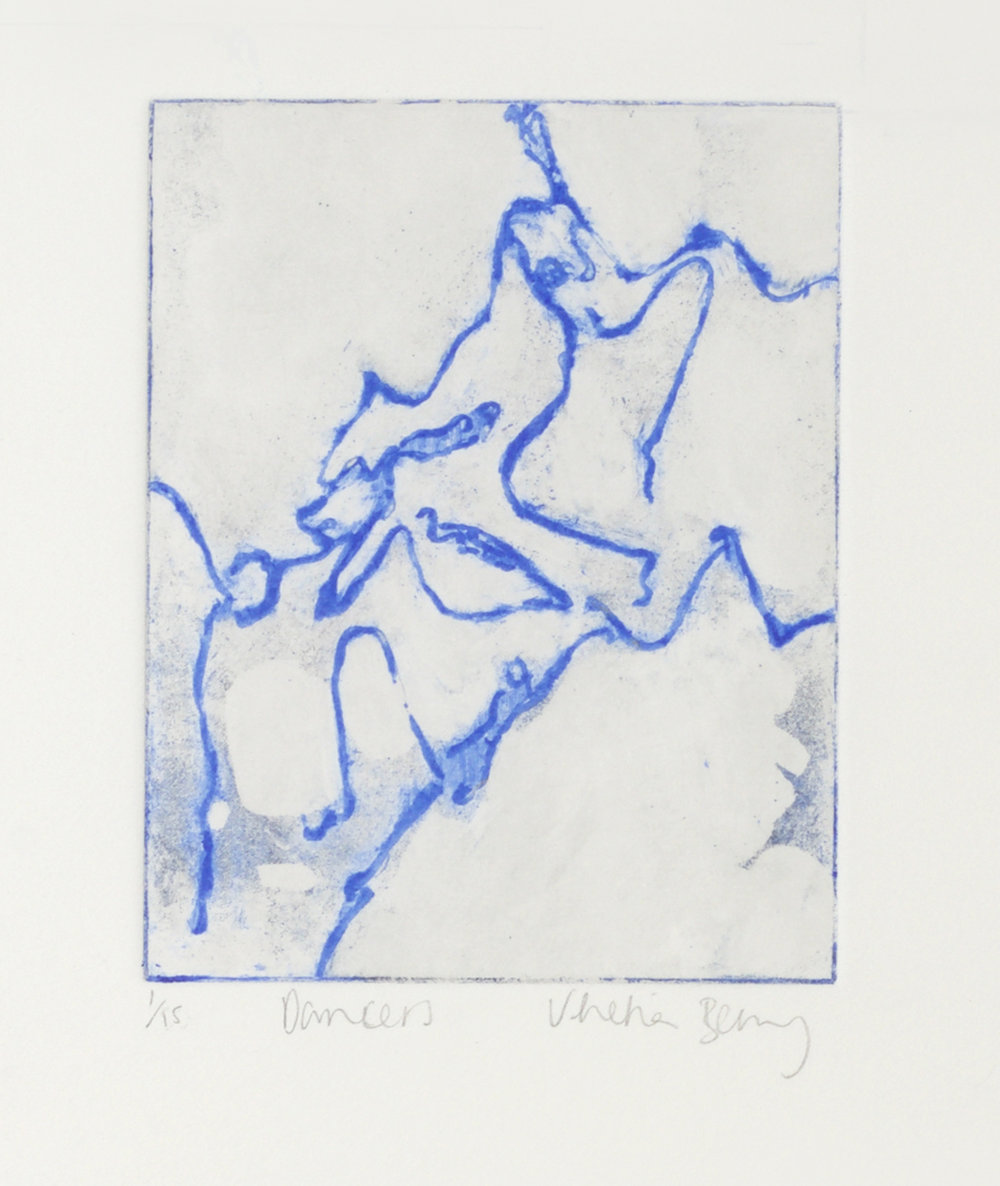 Venetia Berry. Dancers (2017) Etching.   venetiaberry.com