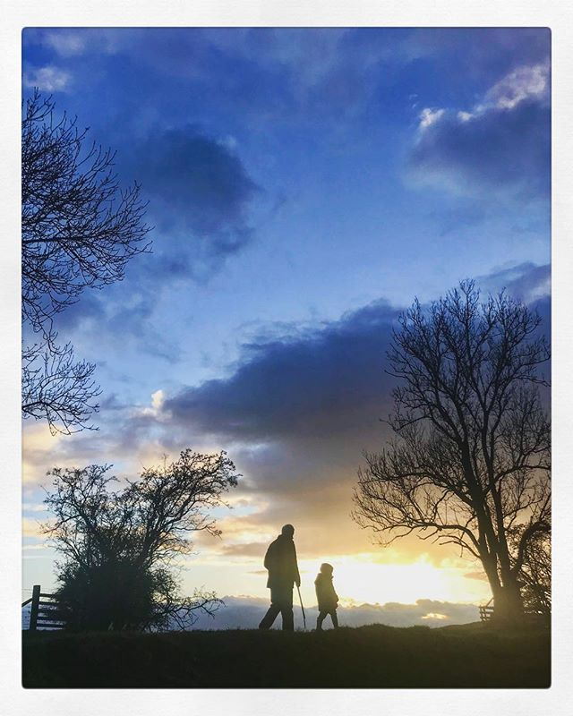 Places and people that hold my heart. #grandawontallowhisfaceoninsta #cumbrianights #eveningwandering #outdoors #ernie&grandad