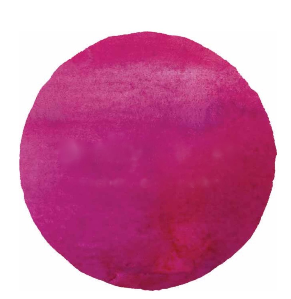 pink watercolor circle