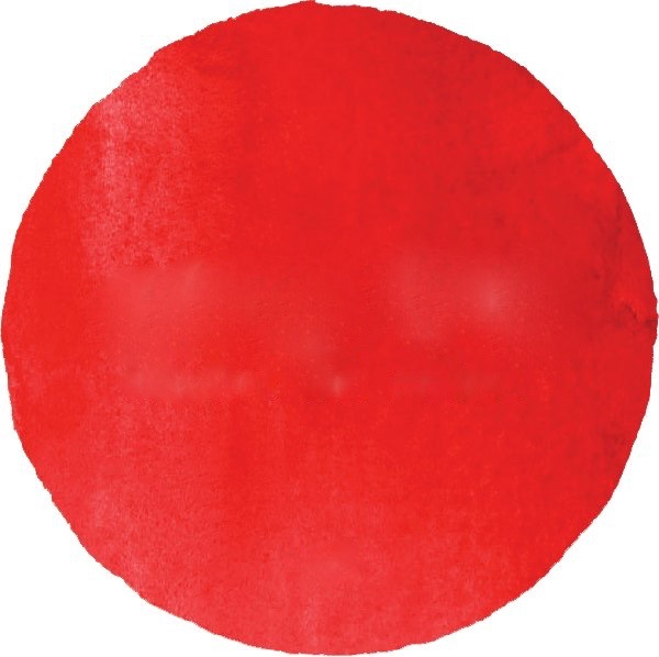 red watercolor circle