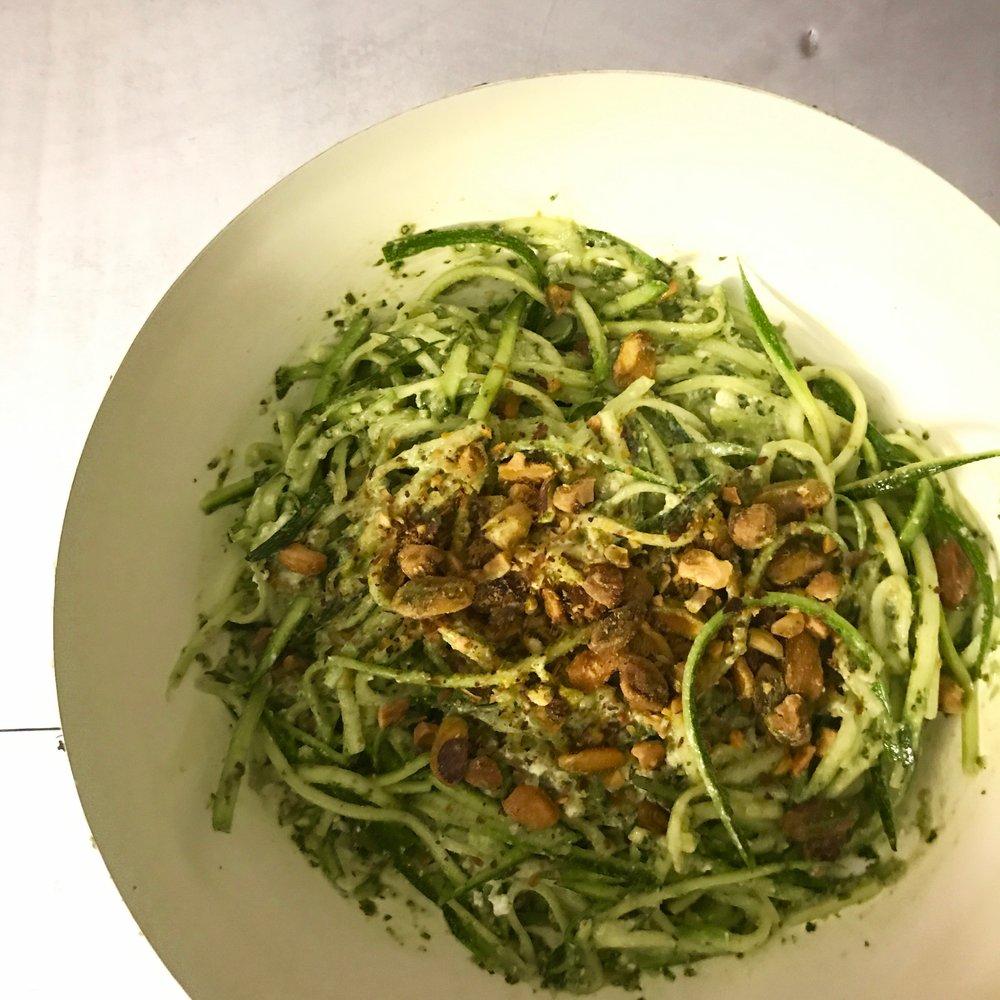 lemon ricotta zucchini noodles