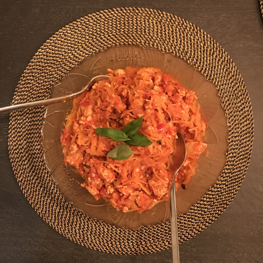 spaghetti squash turkey bolognese