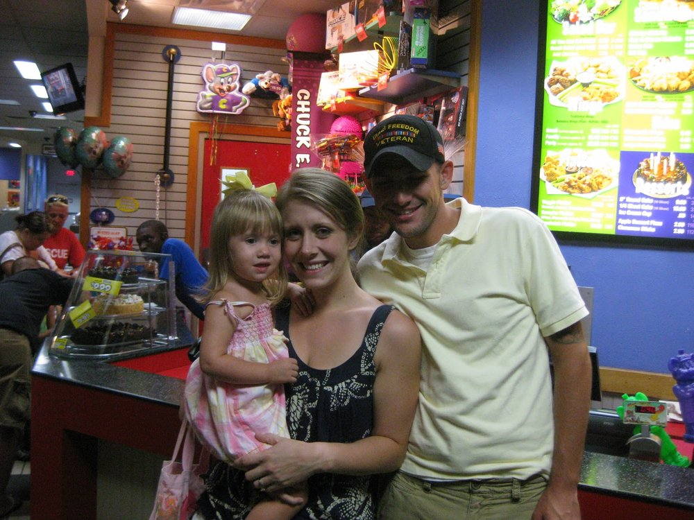 Amanda and Brad Massner, with their daughter, Sydney