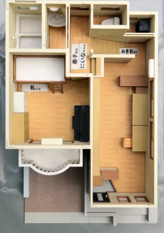 The layout of the Miyazawa home from above