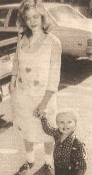 """Tonya Hughes"" with her son, Michael"