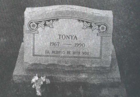 "The resting place of ""Tonya Hughes"""