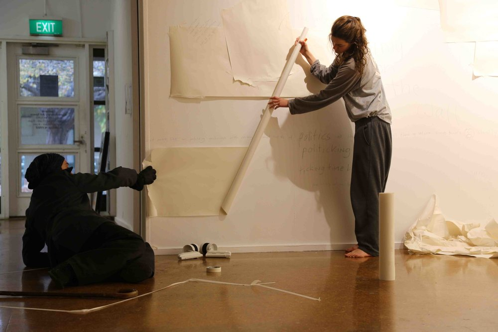 1. Daisy Sanders and Matt Shilcock developing Immersive restful work at Stranger Attractor, 2015.