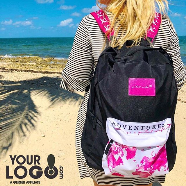 We love seeing where @adventuresofapilotwife takes her branded Oaklander Cut & Sew Backpack. Here she is in the Cayman Islands. We love this bag for a numbers of reasons: ✔️ Minimum order of 1 ✔️Free Set-up ✔️ Lots of space ✔️ customize straps, patch & front pocket. ✔️Quick production ✔️ Cut and Sewn in the USA  #yourlogomatters #yourlogo #brand #geigergetsit #marketing #advertising #branding #origaudio