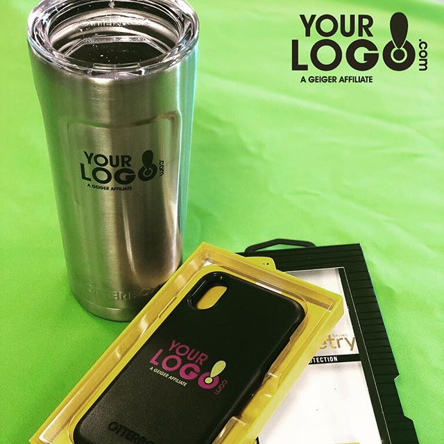Where else does a logo get seen as often as the back of a phone? #ThePhoneCaseistheNewTShirt #otterbox #branding #newhire #newhireorientation #hr #yourlogomatters #geigergetsit #corporategifts #brand