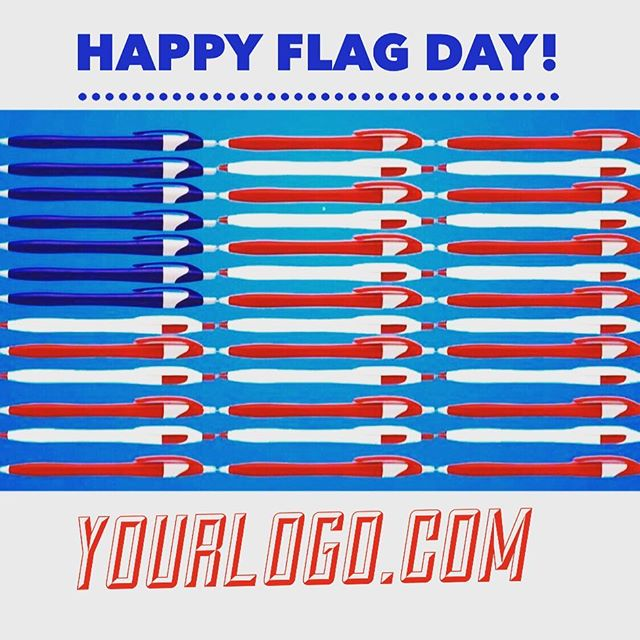 On this day in 1777, our great country adopted the American Flag. 🇺🇸 #flagday #merica #usa #brandedpens #geigergetsit #yourlogomatters