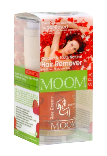 MOOM Organic Hair Removal Kit with Rose Essence (Spa Formula)