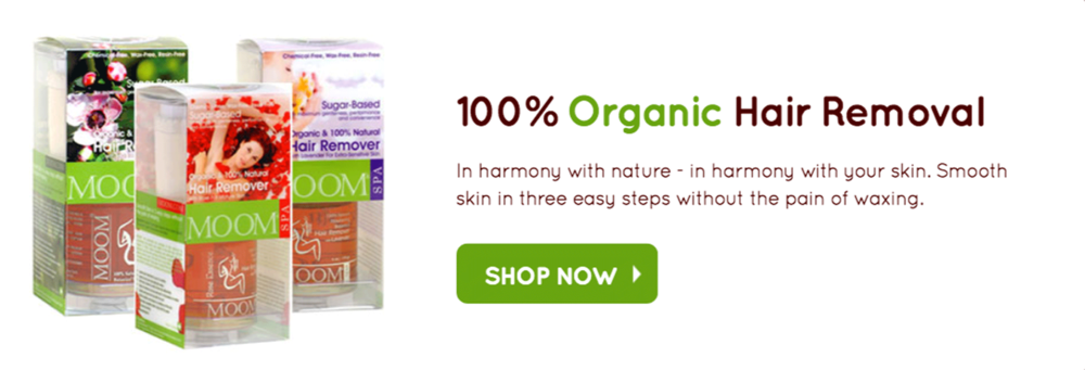 100% organic hair remover