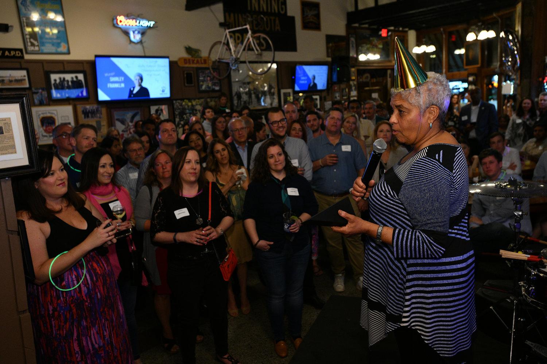 Mayor Shirley Franklin Accepting The 2019 Holly Palmer Rhodes Changemaker Of Year Award