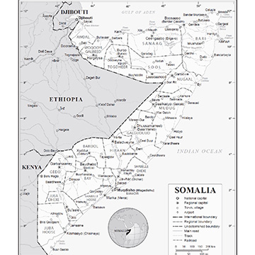 Map of Somalia. Credit: UN Graphic.