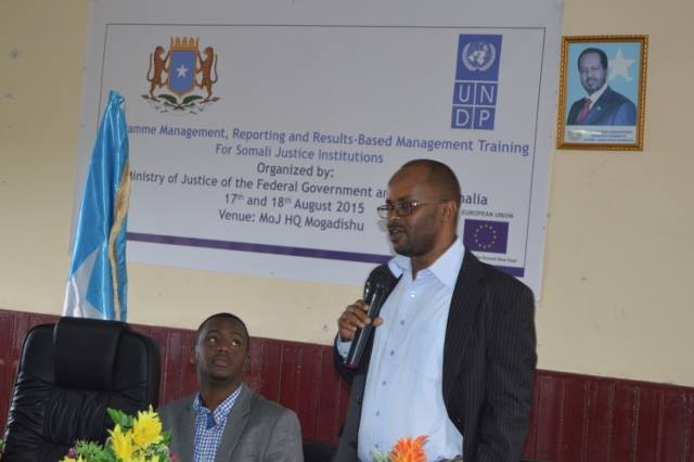 Mr. Ahmed Ali Dahir, Attorney General of Somali Federal Republic attended the RBM training. Credit: UN Photo.