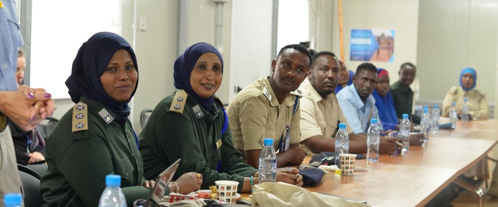 Somali Police Force (SPF) officers from the federal and regional administrations attend a course on investigating and preventing sexual and gender-based violence held on 19 September 2016 in Mogadishu. UN Photo