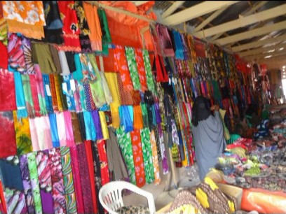 Gacanlibax Cloth Market, Gardo. Credit: UN Photo.