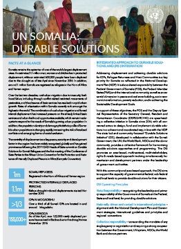 UN Somalia, our factsheet on Durable Solutions