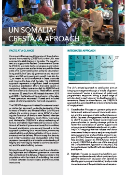 UN Somalia, our factsheet on CRESTA/A APPROACH
