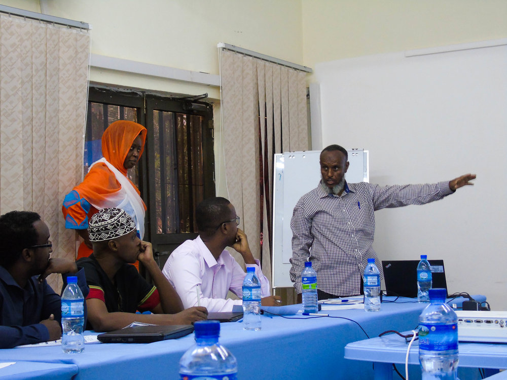 One of the Garowe training's session. Credits: UN photo