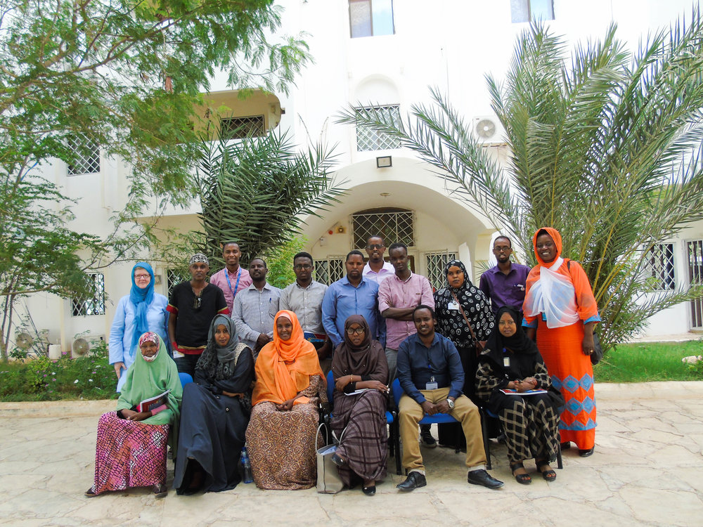 Participants to the training in Garowe. Credits: UN photo