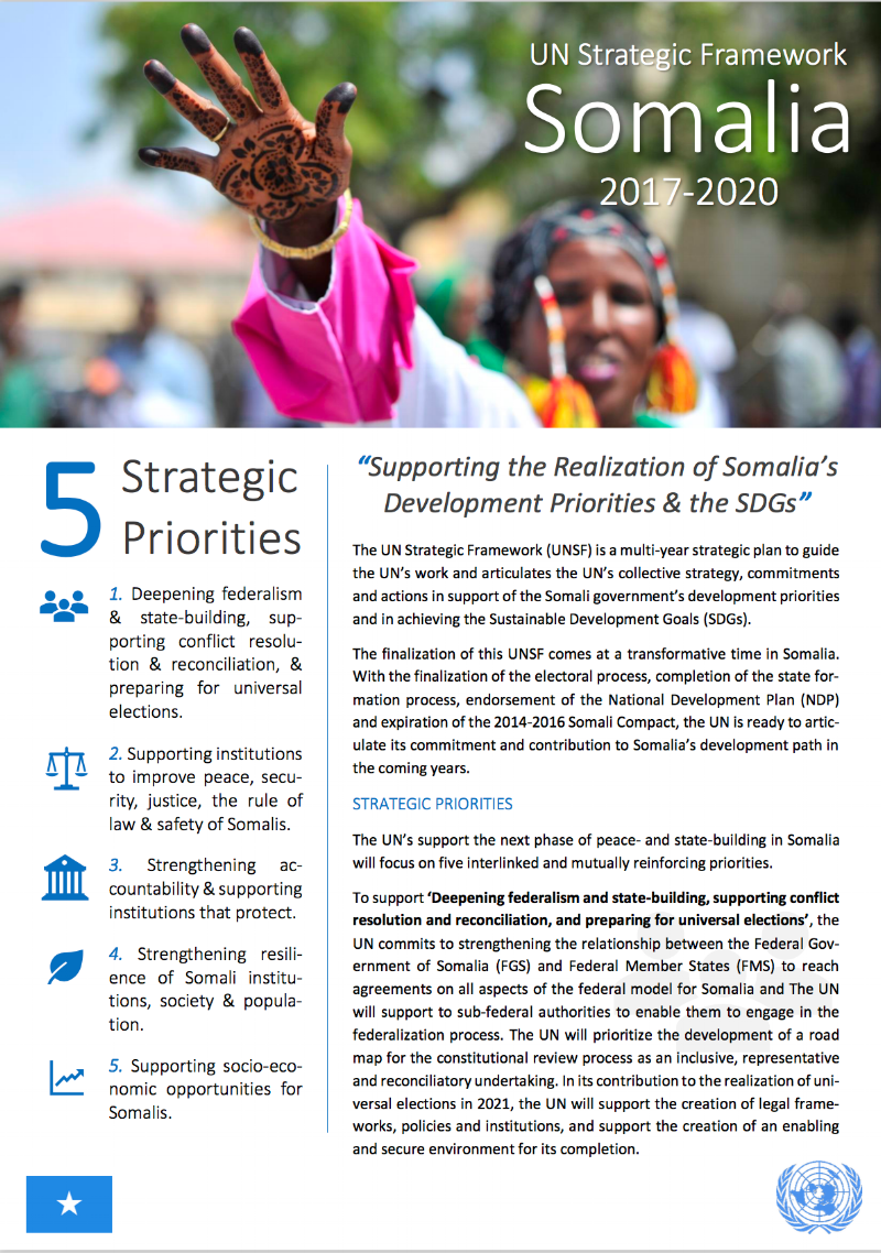 UN Strategic Framework: Factsheet