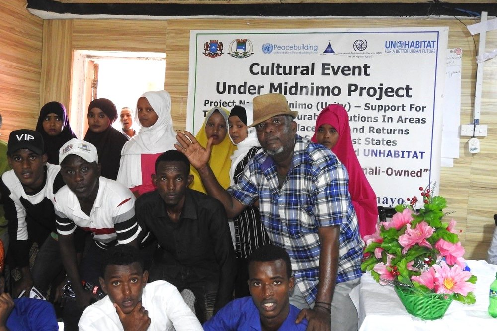 Participants of the Kismayo community art & culture event. Credit: UN Photo/IOM