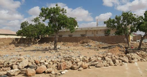 Construction Site of the District Administration Office in North Galkayo. Credit: Project Information Unit Photo