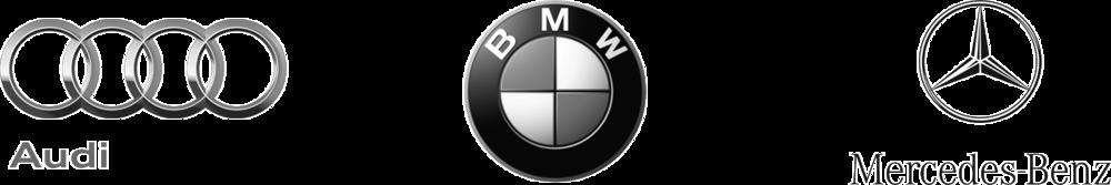 Audi, BMW and Mercedes Logos