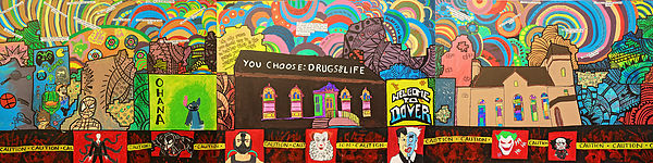YOU CHOOSE DRUGS OR LIFE MURAL WORKSHOP