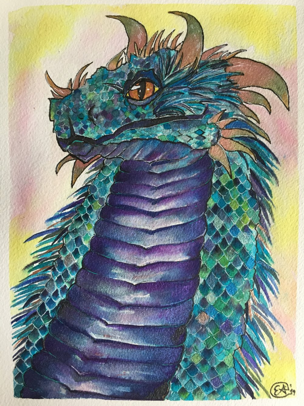 Ellen AVigliano Dragon Watercolor.JPG
