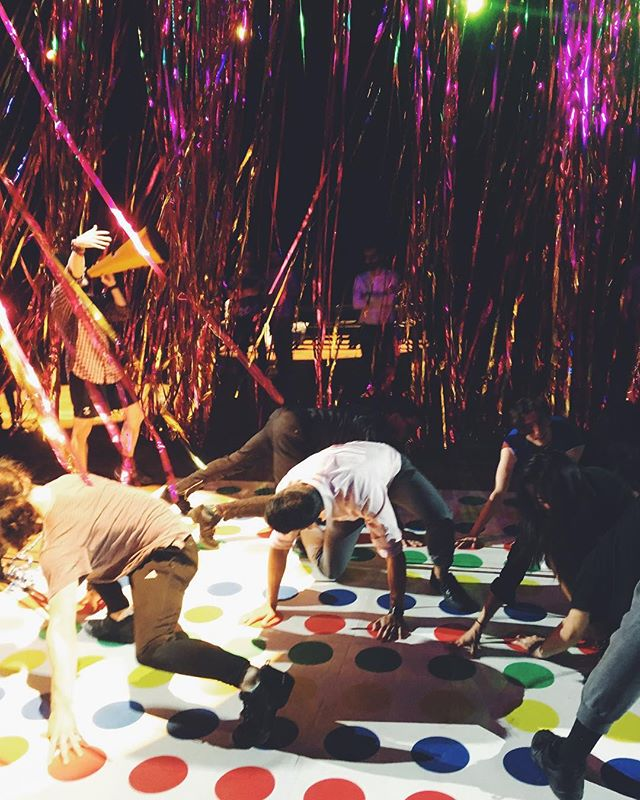 Interactive art or best dance party in town? #tbt to The Let Go by @nickcaveofficial #interactiveart #dance #nyc #otherworldnyc
