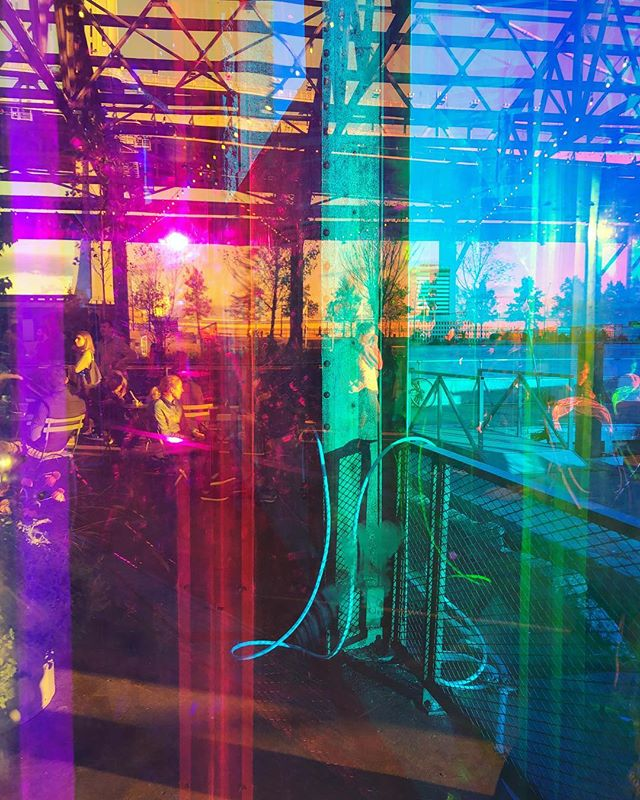 Prismatica serving #colortherapy @ cherry street pier . . . . . . . . #colortherapy #prism #rainbow #philly #fringearts #art #interactiveart #otherworldnyc