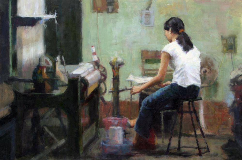 Silk Factory Worker