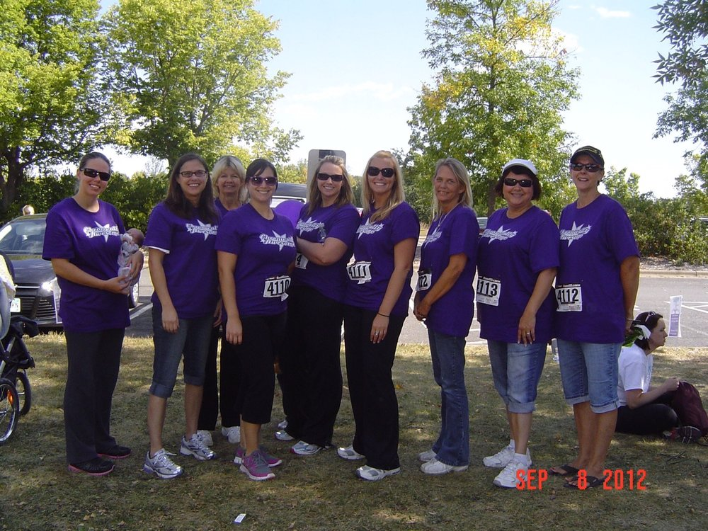 Participating in a 2012 walk for lupus