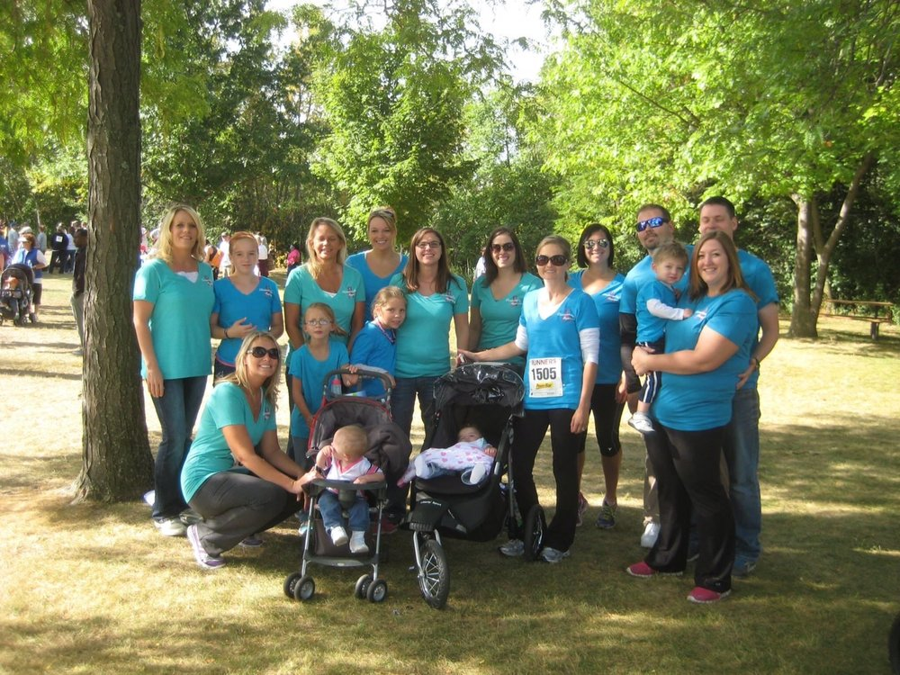 Group photo-op before walking for lupus