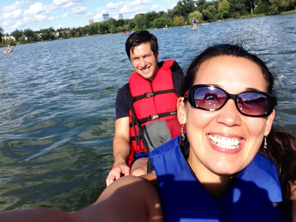 """Three years ago, right before my body decided to revolt. I was incredibly active before getting sick and loved being outside!"" said Steph, pictured her partner, Paul, in September 2014."