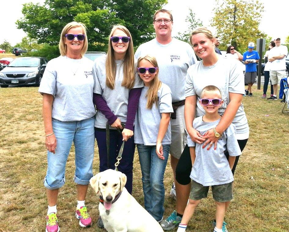 Some recurring members of Kristie's Krew include her parents, sister, niece, and nephew! Sometimes Kristie's pup, Maggie, gets to come too!