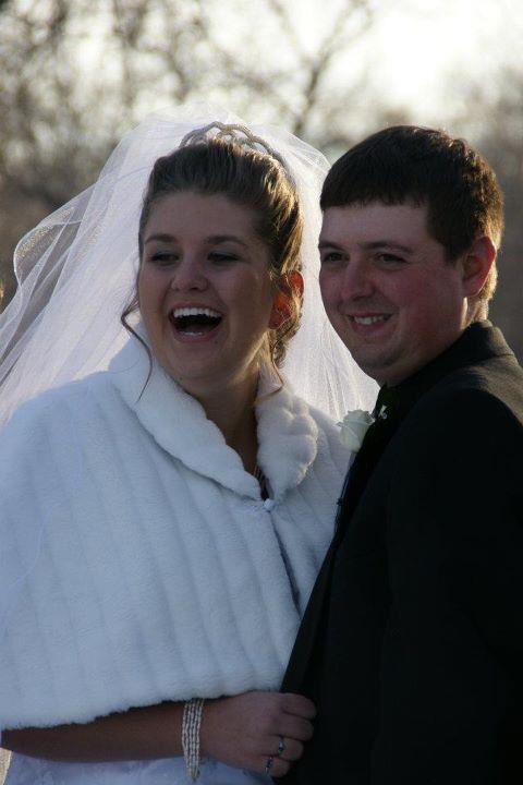 Lisa's daughter-in-law and son on their wedding day (December 12 , 2011).