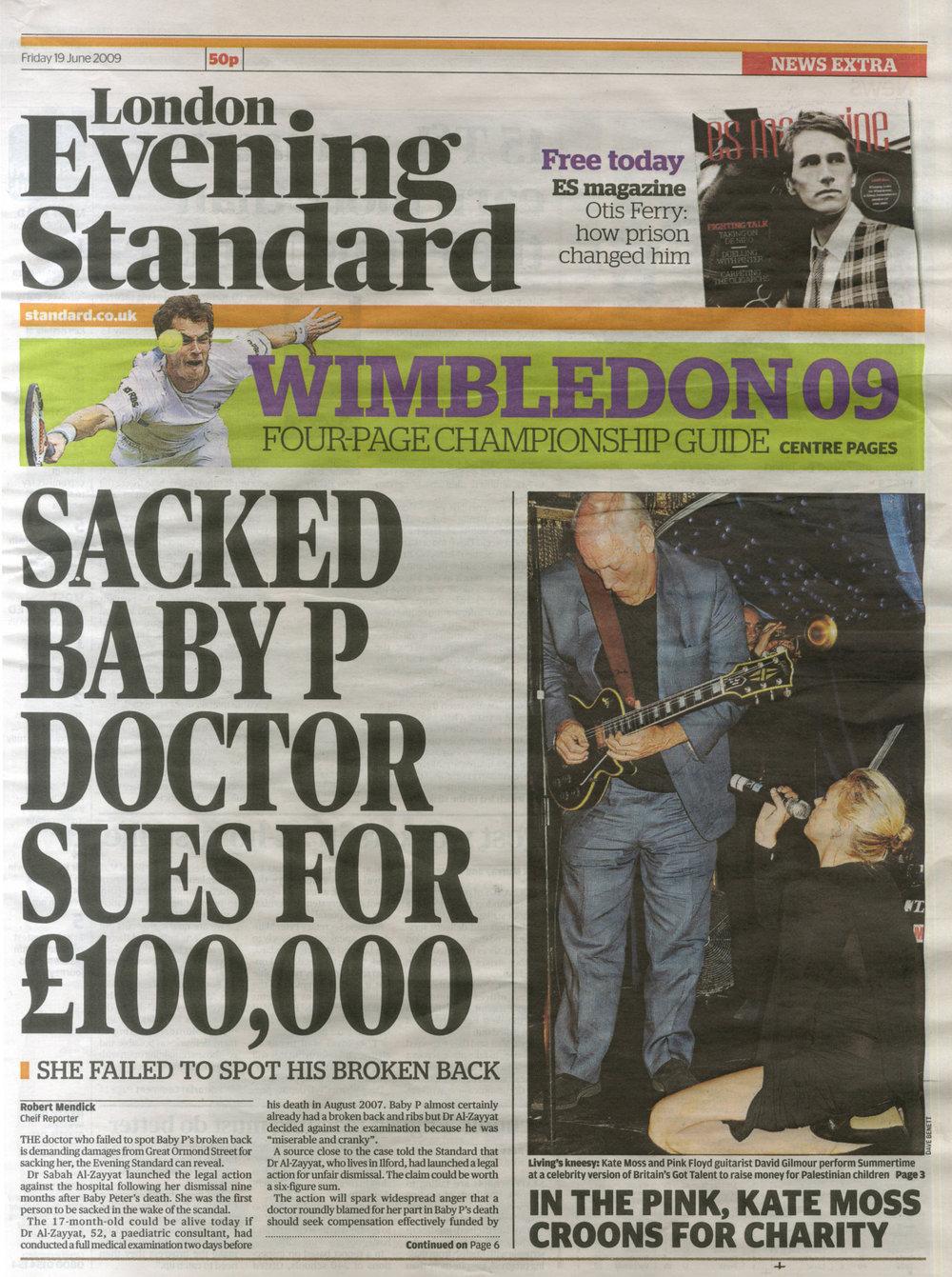 Evening Standard 090619 Front Cover.jpg