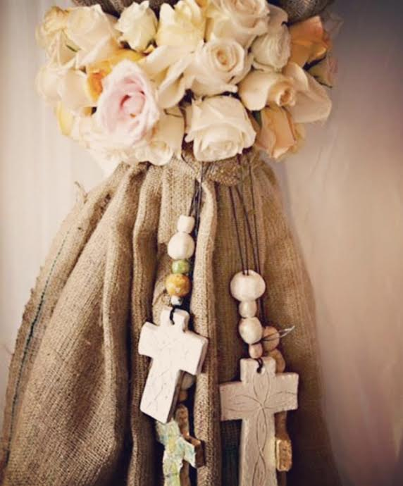 We created 300 hand crafted crosses for these spectacular wedding favours. Each one with hand made beads and scripture painted in Hebrew.