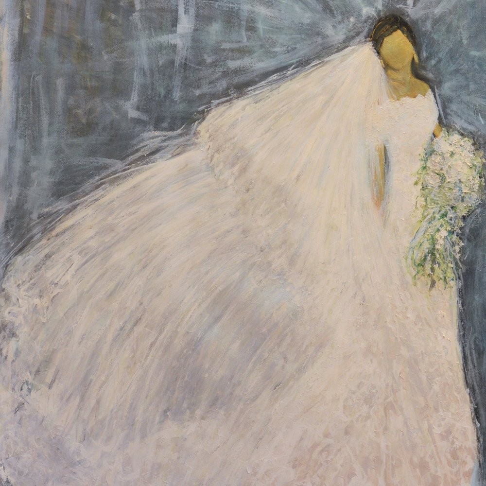 """Original oil on canvas of Bride. """"Whitney"""""""