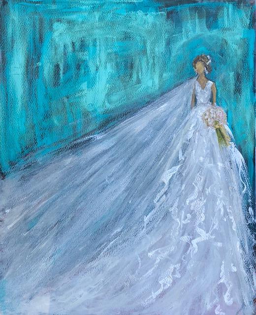 "Beautiful Commission Oil on Fine Art Paper . ""Auguste"""