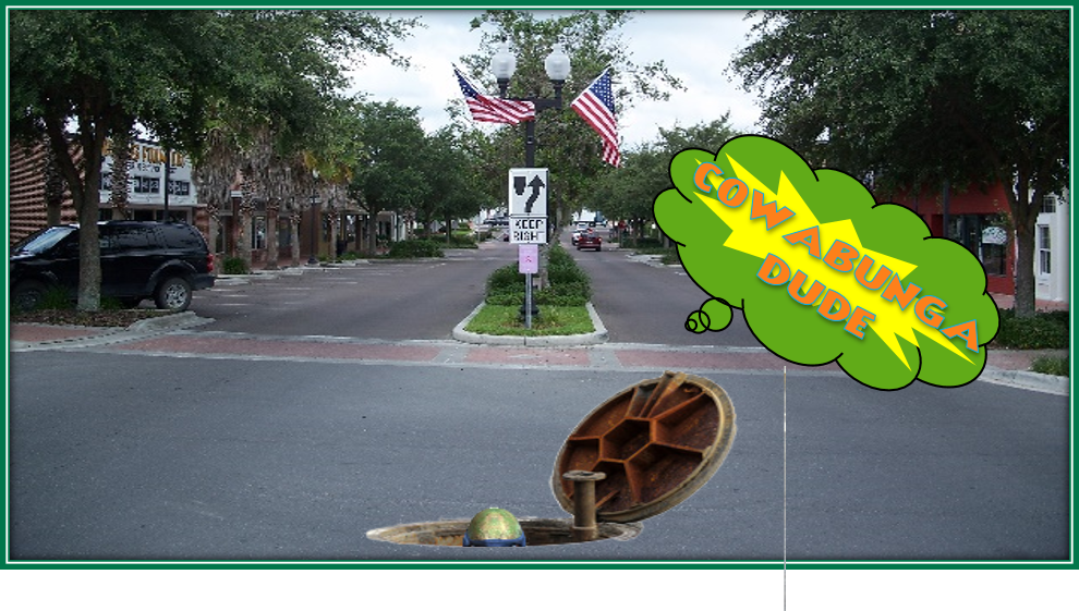 You can find out at Saturday in the Square on June 30th. City of Zephyrhills Waste Water Department will have the camera truck exploring the drains for the kiddies to see!!