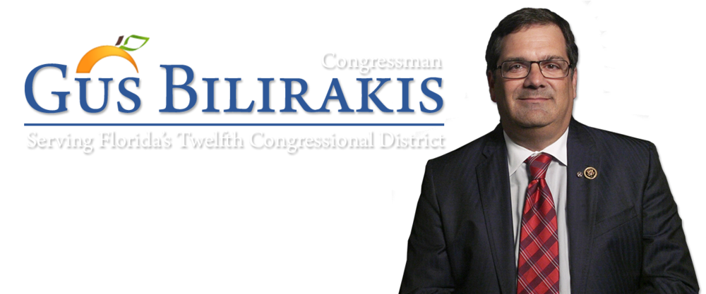 U.S. Congressman Gus Bilirakis    Address: P.O. Box 606 Tarpon Springs, FL 34688  Telephone: 727-940-5860  Website:. www.bilirakis.house.gov